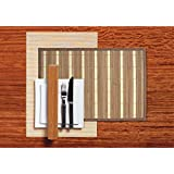 Freelance Bamboo Vinyl Table Mats, Kitchen And Dining Placemats - Set Of 6 Pieces