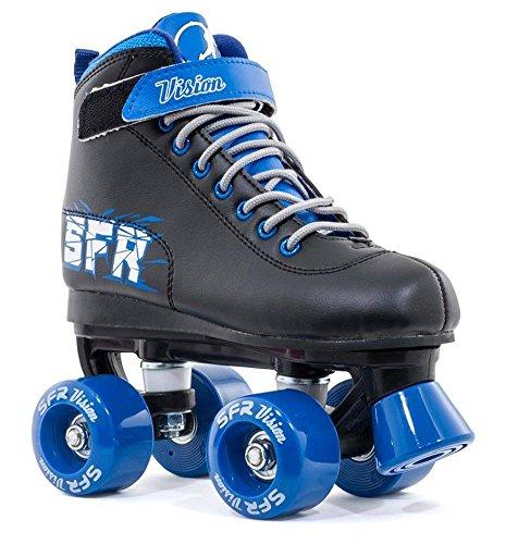 SFR Vision II Quad Skates, Schwarz / Blau - 32