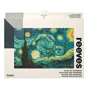 Reeves - Creatividad - Pintar por números - Grande, noche de estrellas