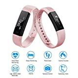 LETSCOM Fitness Tracker HR, Bluetooth Fitness Watch with Heart Rate Monitor, Step Counter, Sleep Tracker, Calorie Counter, Waterproof Pedometer Watch for Kids Women and Men