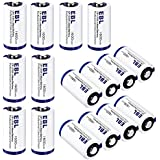 EBL CR123A CR123 Lithium Batteries With Battery Storage Box For Arlo Cameras, Polaroid, Microphones, Flashlight [CAN NOT BE RECHARGED]