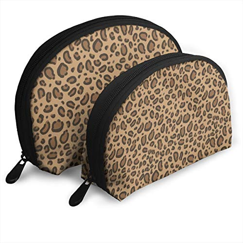 Leopard Print Safari Animals Design 2pcs/pack Toiletry bag Travel Carry On Airport Travel Shell Makeup Storage Bag Toiletry Organizer For Women -
