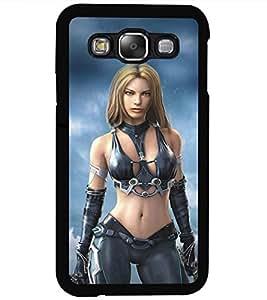 ColourCraft Warrior Girl Design Back Case Cover for SAMSUNG GALAXY E5