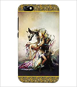 PrintDhaba Beauty and the Beast D-2526 Back Case Cover for HUAWEI HONOR 4X (Multi-Coloured)