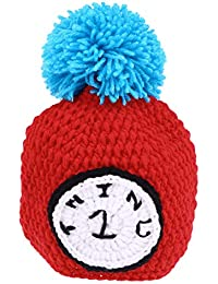 YeahiBaby Sombrero de Bebé de Crochet con Ponpóm Gorro de Foto de Recién  Nacido 77aae2f0fd2