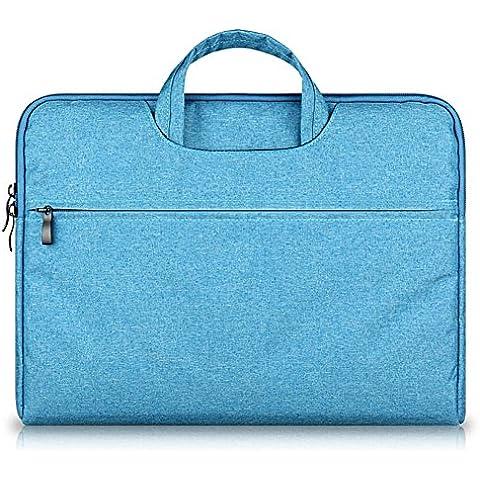 G7Explorer Water-resistant Laptop Sleeve Case Bag Portable Computer handbag For Apple Macbook Air Pro and other Notebook 15.6 inches Blue - Gun Bag Neoprene