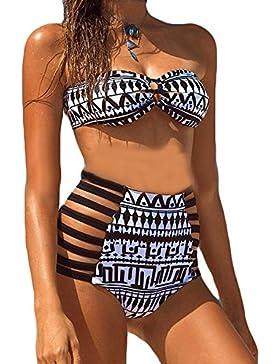 SAMGU Costume Mare da Donna vita alta bikini Costume Push up Bikini Costume da Bagno
