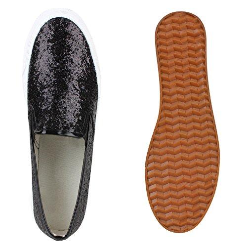 ... Schuhe Slipper Gr Damen Mode Glitzer 41 Kollektion Metallic Schwarz ons  36 Plateau Slip Aktuelle qUXT0 ... 9b1f4d7737