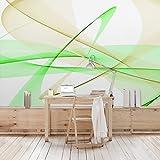 Apalis Vliestapete Transparent Waves Fototapete Breit | Vlies Tapete Wandtapete Wandbild Foto 3D Fototapete für Schlafzimmer Wohnzimmer Küche | grün, 95040