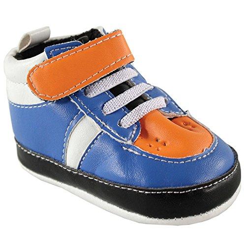 Luvable Friends , Chaussures souple pour bébé (garçon) Bleu bleu 12-18 mois