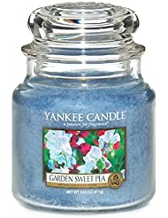 Yankee Candle 1152870 Bougie parfumée Pois de senteur de jardin en jarre Bleu