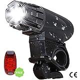 Uniavo USB Rechargeable Waterproof Cycle Light, High 300 Lumens Super Bright Headlight, Free