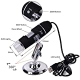 #9: Microware Portable USB Digital Microscope 50x-1000x Magnification 8-LED Mini Microscope Camera Magnifier with Stand