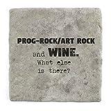 Prog-Rock/Art Rock und Wein Was ist noch?–Marble Tile Drink Untersetzer