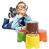 ukgood 4× Pack niños plástico ligero smelless Lovely Adorable antideslizante seguridad frutas reposapiés taburete stepstool para niños, plástico, 2 ×Pack, 21.5×19×12.5