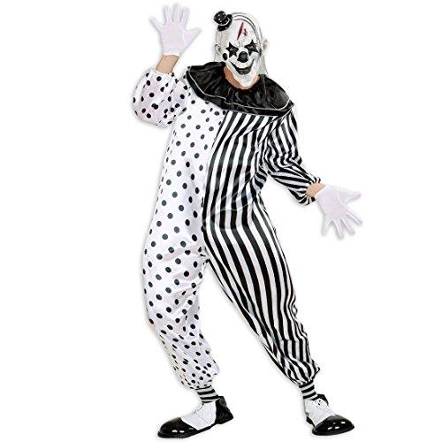 Imagen de mono pierrot terrorífico  l es 52 | disfraz arlequín asesino | disfraz clown de terror | traje payaso malvado alternativa