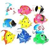 10X Schwimmende Künstlich Deko Fisch Ornament Dekoration für Aquarium Fish Tank