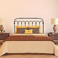 """Cabecero de cama cabecero de cama pared vinilo adhesivo cabecero decoración adhesivo de pared metal marco de la cama dormitorio decoración de arte de los tacos, vinilo, negro, 30""""hx54""""w"""