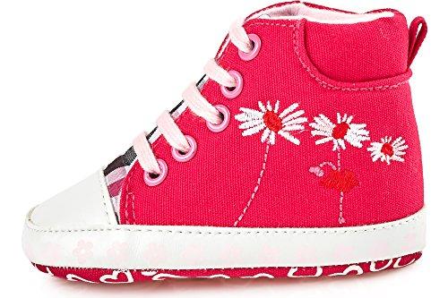 Bobobaby Baby Mädchen und Jungen Bobobaby Babyschuhe Hausschuhe ZB-69 Rosa
