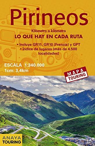 Mapa de Los Pirineos 1:340.000 - (desplegable) (Mapa Touring)
