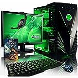 """VIBOX Warrior 4 - Ordenador para gaming (21.5"""", AMD FX-6300, 8 GB de RAM, 1 TB de disco duro, AMD Radeon R7 370) color neón verde - Teclado QWERTY Inglés"""