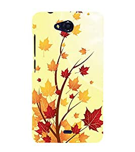 Fiobs Designer Back Case Cover for Micromax Canvas Play Q355 (Tree Art Theme)