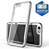 adorehouse iPhone 6 iPhone 6s 4.7 inch Hülle, Creative Design Silver Protects Back Hülle with Anti Scratch Edge Protection Hülle Compatible with iPhone 6 iPhone 6s 4.7 inch