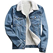TWIFER Herbst Winter Denim Upset Jacke Vintage Langarm Lose Jeans Mantel a5aa82322f