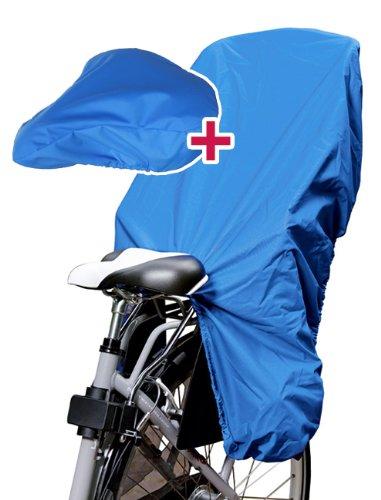 TROCKOLINO Set in blau - Regenschutz für Fahrrad-Kindersitz und Sattel