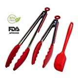 Portable BBQ Tongs Pack of 9