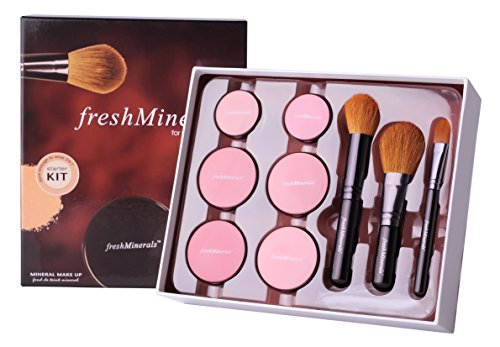 Freshminerals 9 Piece Mineral Powder Foundation Starter Kit, Natural/SPF 20 by freshMinerals (Mineral-starter-kit)