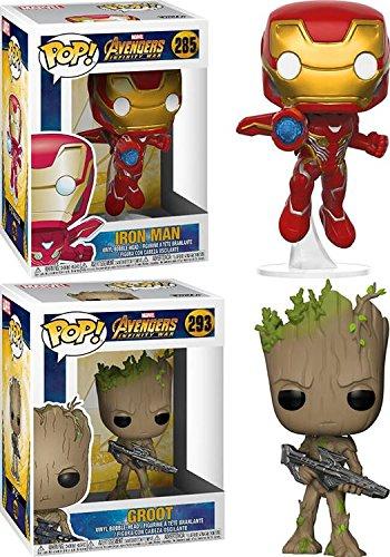 Funko-POP-Avengers-Infinity-War-Iron-Man-Groot--Marvel-Stylized-Vinyl-Bobble-Head-Figure-Bundle-Set-NEW