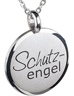 Ernstes Design Anhänger Schutzengel Edelstahl AN520