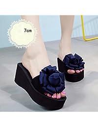 Pantofole HAIZHEN scarpe da donna 7cm- tacchi alti multi-colore donna da  estate Pattini f65f98b15fd