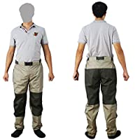 Kylebooker Fly Fishing Waders Trousers Durable Weatherproof Wading Pants With TRICOT Fabric KB003