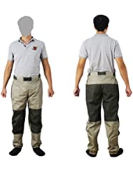 KyleBooker Fly Fishing Waders Pant Durable resistente a la intemperie Wading Pants con tela TRICOT KB003