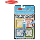 Melissa & Doug On The Go Water Wow! Colors & Shapes Activity Pad (Reusable Water-Reveal Coloring Book, Refillable Water Pen)