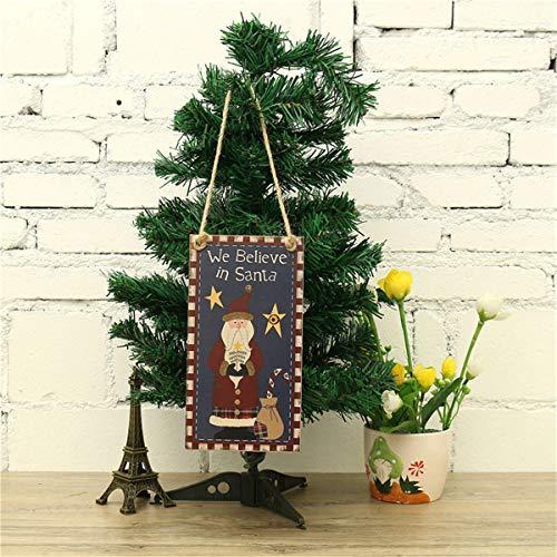 Bluelover Hölzerne Weihnachtslieder Weihnachtsmanndeko Für Weihnachtsheim-Dekoration