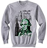 Photo de Teesquare1st Men's JOSEPH HAYDN COMPOSER Grey Sweatshirt par TEESQUARE1st