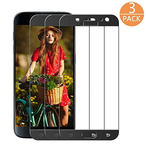 Supband Panzerglas Schutzfolie für Samsung Galaxy S7 [3 Stück], Schutzfolie S7 Panzerfolie Displayschutz Gehärtetem Glass 9H Härtegrad für Galaxy S7 (Schwarz)