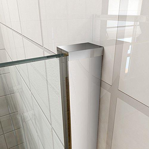 Schiebetür – Duschabtrennung mit Glas links und rechts - 8