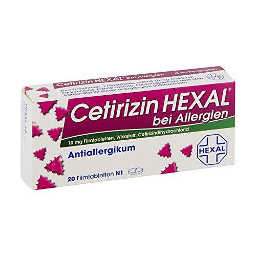 Cetirizin Hexal 10 mg Tabletten, 20 St.
