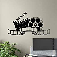 Cinema Wall Decal Movie Film Tape Poster Home Theater Action Sign Vinyl Sticker Strip Removable Mural Interior Studio Decor 103 * 57CM