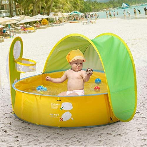 Falliback Strandzelt Pool Zelt Baby Strandzelt UV Schutz Indoor Outdoor Planschbecken Beach Canopy Zelt, Sonnenschutz Portable Kids Ball Pit Spielzelt Für Babys Kinder