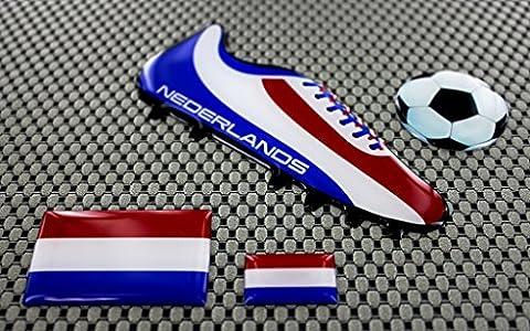 Nederland (Niederlande World Cup Fußball Fußball Schuh 3D Aufkleber Aufkleber Set (Riesen Licht-sets)