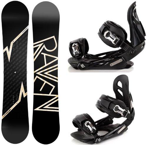 Snowboard Set: Snowboard Raven Pulse Camber + Bindung Raven s250 Black M/L