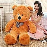 #7: CLICK4DEAL Soft Teddy Bear 4 Feet Long Pink (122 Cm) (Brown)