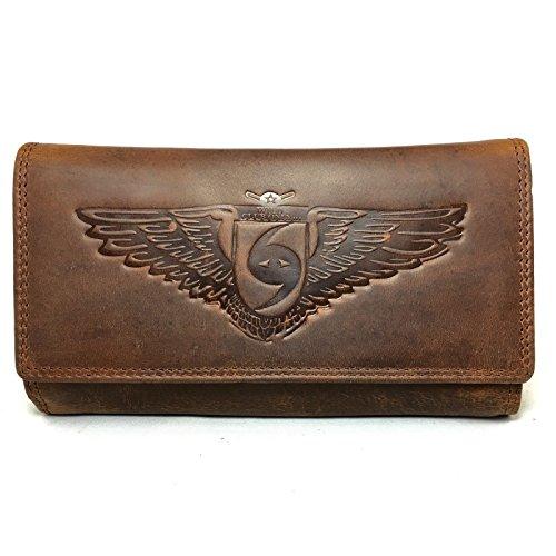 Guess Clutch Mit Reißverschluss An Der Rückseite (Damen Geldbörse aus echtem Leder, Langbörse mit viel Stauraum für Karten)