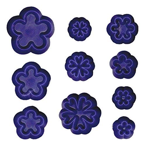 Ausstechformen Kleine Kunststoff (PME 103FF006 Jem Ausstechformen für Kleine Gänseblümchen/ Blüten und Schlüsselblumen, Sortiment, Kunststoff, Ivory, 9 x 1 x 16 cm, 10-teilig)