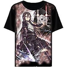 Bromeo Sword Art Online Anime Ropa Mangas Cortas Tee T-shirt Camisetas